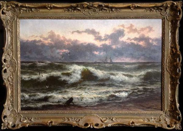 Thomas Rose Miles After the Storm Framed (32x44 frmd oil painting on canvas)