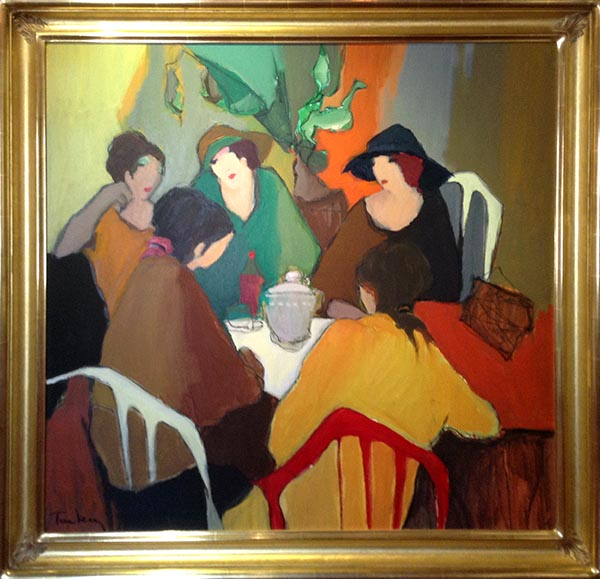 Framed Painting of a group on women sitting around a table