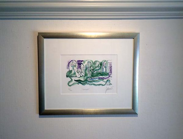 Jerry Garcia - Courtyard framed abstract