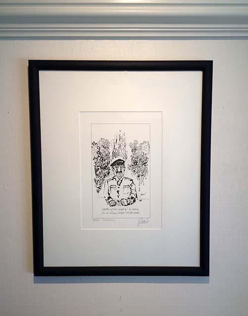 Jerry Garcia - Sadaam print framed