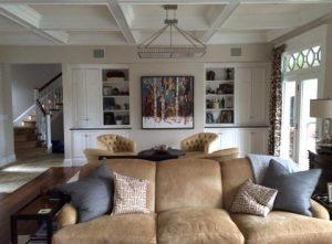 Kote Birches for Formal Hingham Livinghanging in formal living room in Hingham, MA