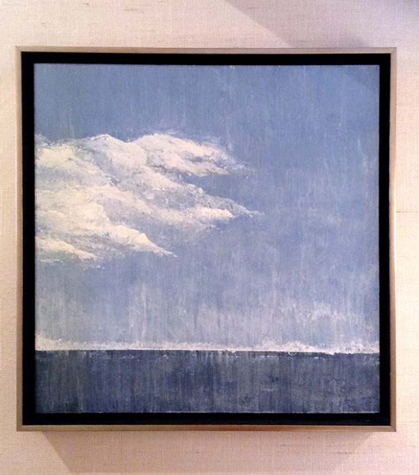 Leah Mitchell framed painting of cloud over sea