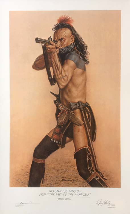 James Bama Wes Studi as Magua from last of the Mohicans entire print (signatures and title on bottom)