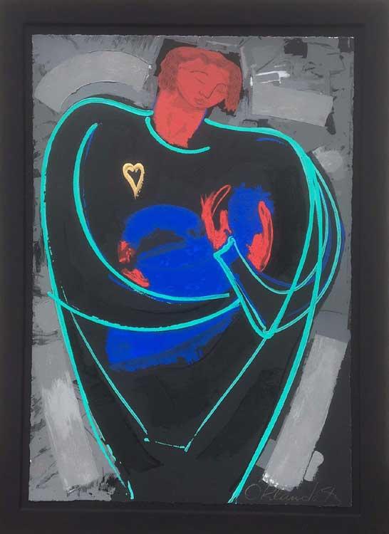 Orlando Botero Adoracion with black mat