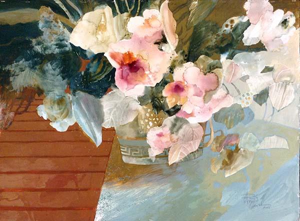 Dorothy Ganek contemporary floral watercolor painting