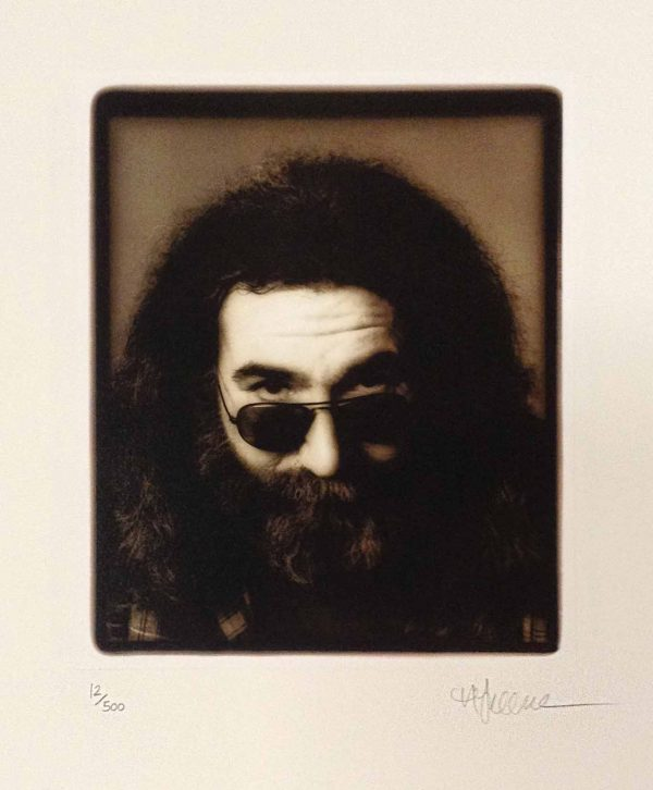 Herb greene photo of Jerry Garcia wearing sunglasses