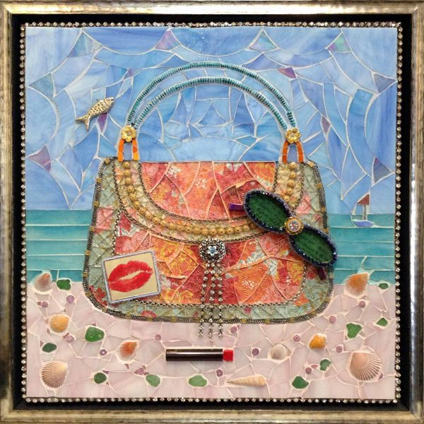Lauren Mehrberg framed mosaic beach bag