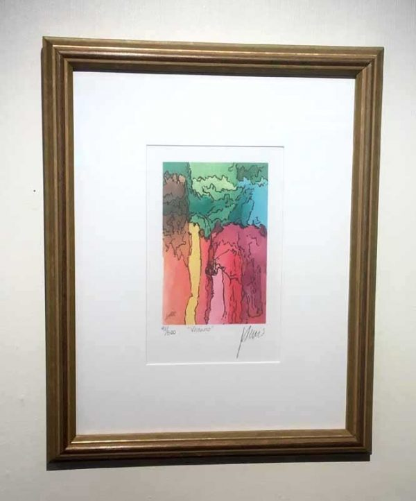 Jerry Garcia - Volcano framed limited edition print