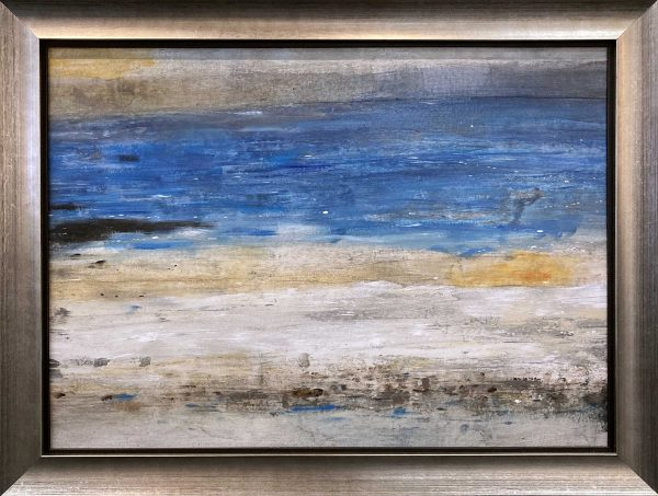 Timothy O'Toole painting framed abstract ocean shore