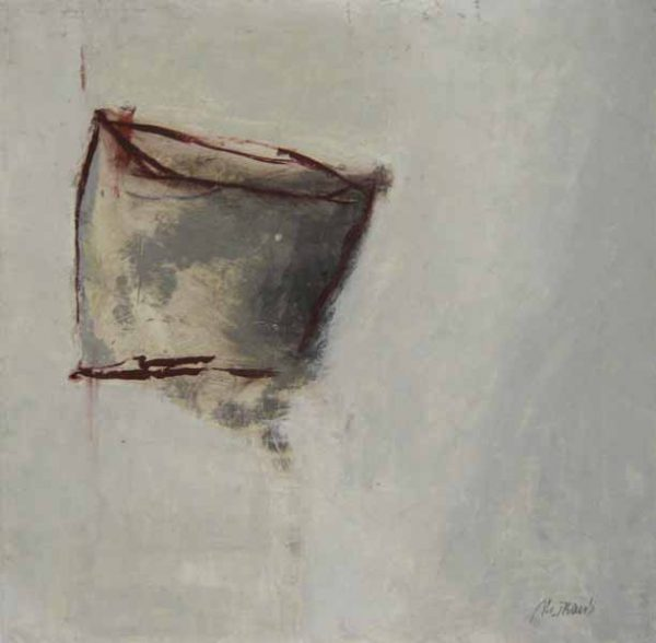 Martine Trouis Abstract III (14x14 oil on paper)