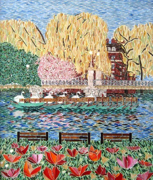 Lauren Mehrberg Colorful Mosaic of Boston Public Garden