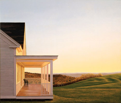 Edward Gordon - 7 PM print of house with porch and yard at dusk