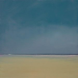 "Anne Packard Giclee print ""Evening"" on Canvas of Blue Sky Beach Horizon"