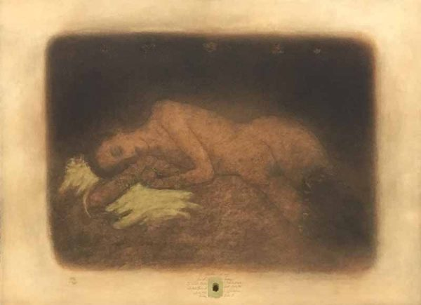 Roy Fairchild A Better Way print of nude woman laying on side