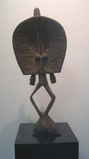 Hand carved wooden african statue
