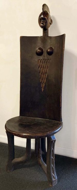 Hand carved wooden african chair