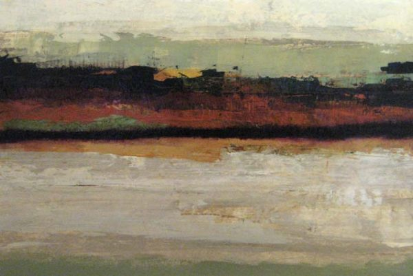 David Kincaid - Abstract - Painting of an abstract landscape with brown and taupe