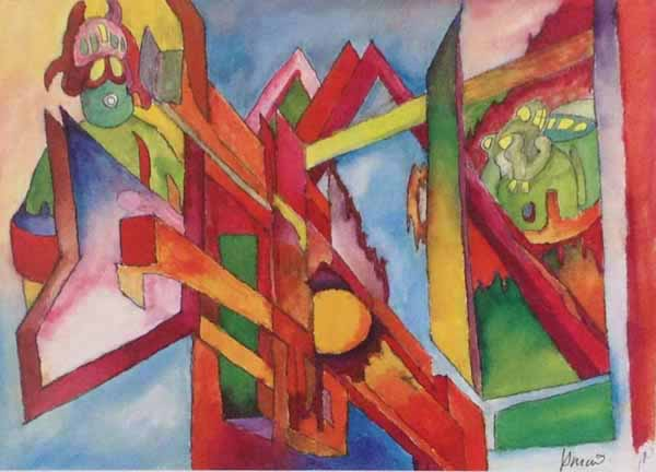 Jerry Garcia - Abstract Angles - Hand signed lithograph on paper