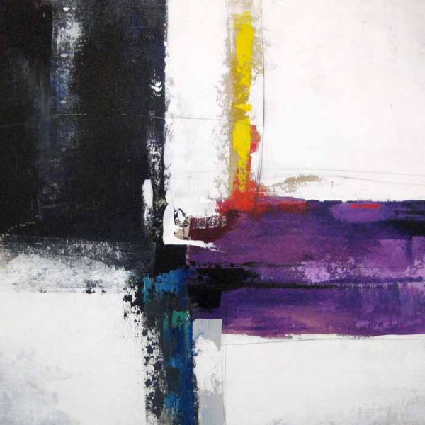 Sydney Edmunds Oil Painting of Abstract Contemporary Minimal Purple