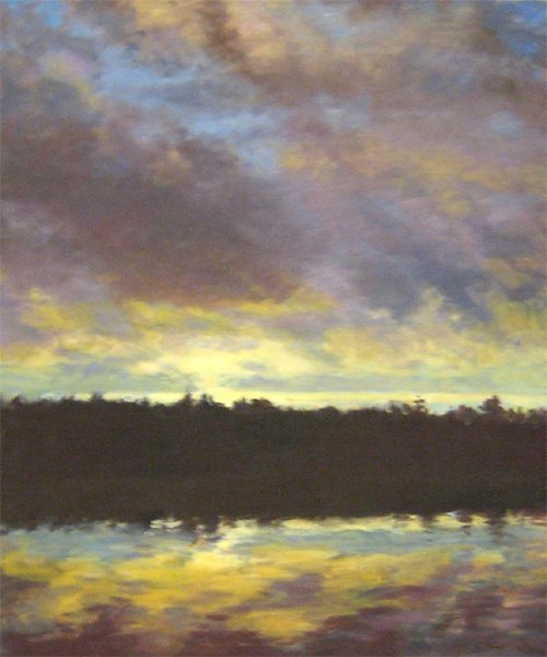 Lynne Adams Acadia Sunset oil on canvas