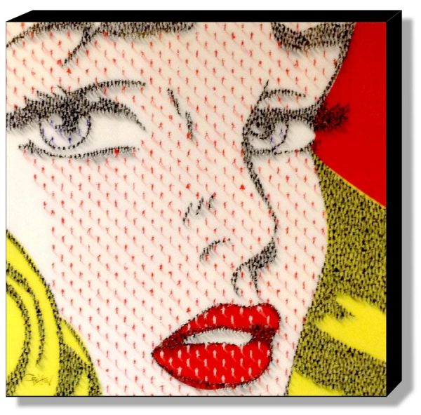 Craig Alan Female Contemporary Pop Art of Blonde Woman Lichtenstein