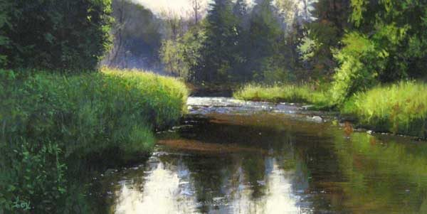Cyril Cox Along the Seaton Trail (12x24 oil on board)