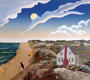 Thomas McKnight - Amagansett print of beachside town