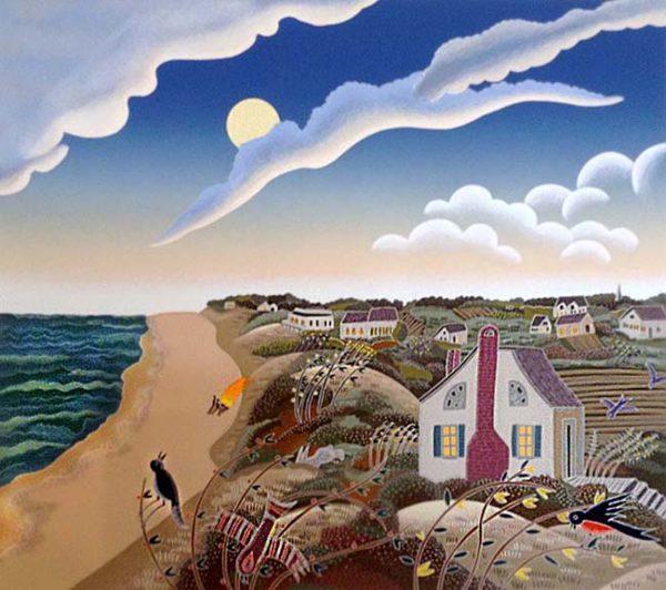 Thomas McKnight - Amagansett print of beachside town