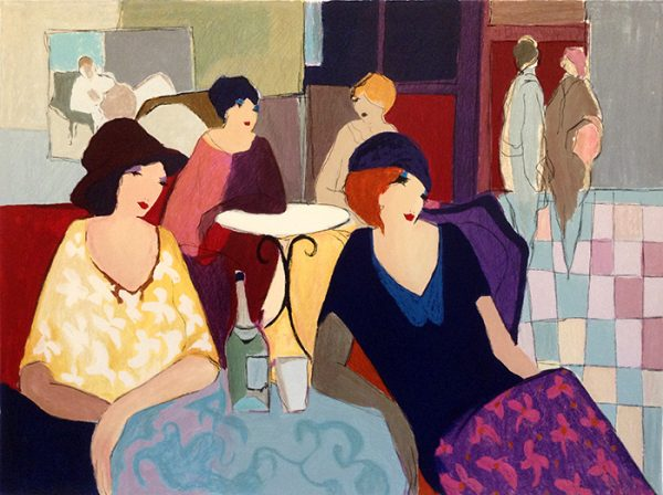 Itzchak Tarkay - Aperitif print of ladies having a drink