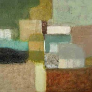 David Kincais painting Assortment abstract multicolored squares