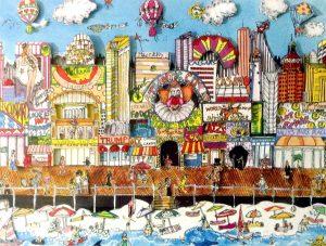 Charles Fazzino Atlantic City New Jersey 3D Serigraph