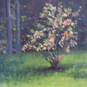 Barbara Levine - Autumn Decor painting of flowering tree
