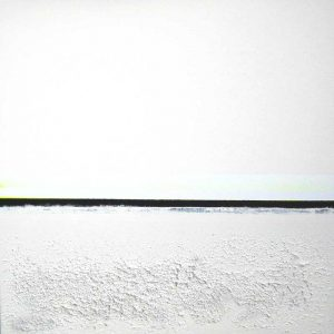 Wendy Shapiro Abstract White and Black Minimalist Acrylic with Sand Texture on Canvas