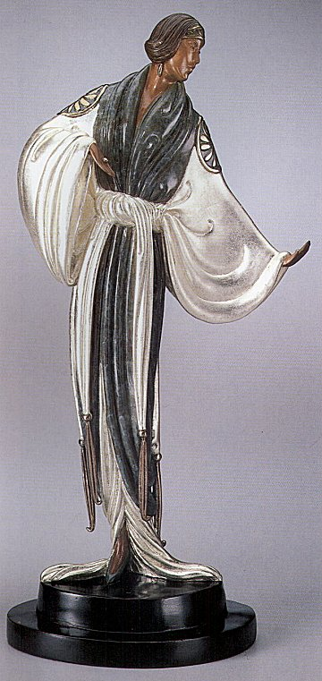 Erte Belle De Nuit bronze sculpture