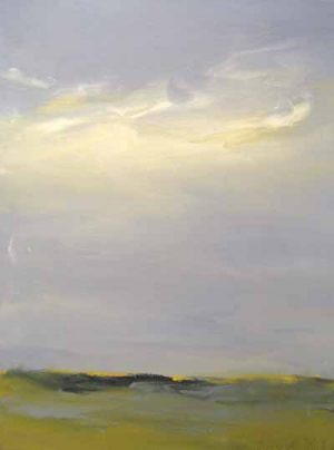 Dannielle Mick Seaside Marsh Scene with Clouds in a Big Sky