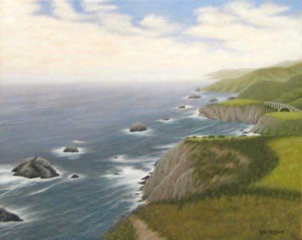 Frank Weitzman Landscape Painting of Coastline