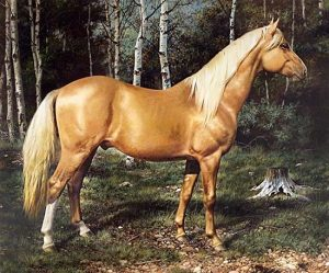 Carl Brenders - Blond Beauty print of horse