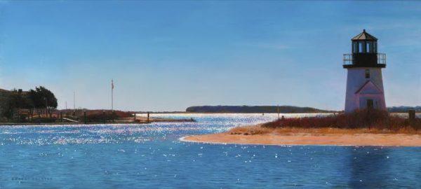 Robert Bolster - Blue Passage (18x40 oil painting on linen)