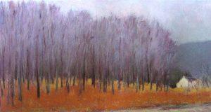 Ken Elliott - Blue Trees At Roadside (25x45 giclee)