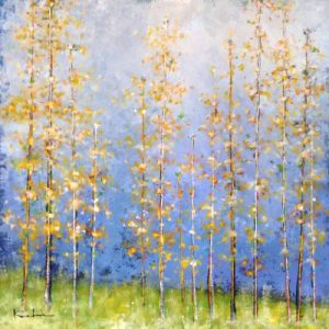 Jeff Koehn Contemporary Landscape of Aspen Trees in Fall Autumn Colorado