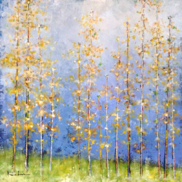 Jeff Koehn Contemporary Landscape of Aspen Trees in Fall Autumn Colorado