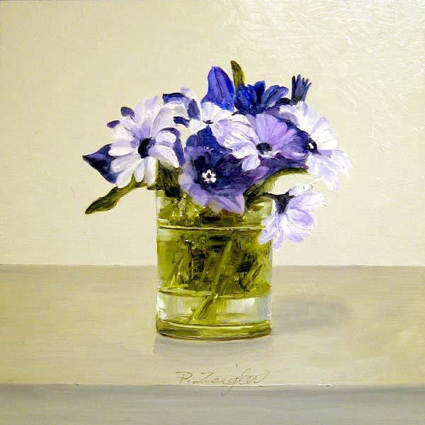 Patti Zeigler Still-life Painting of Blue