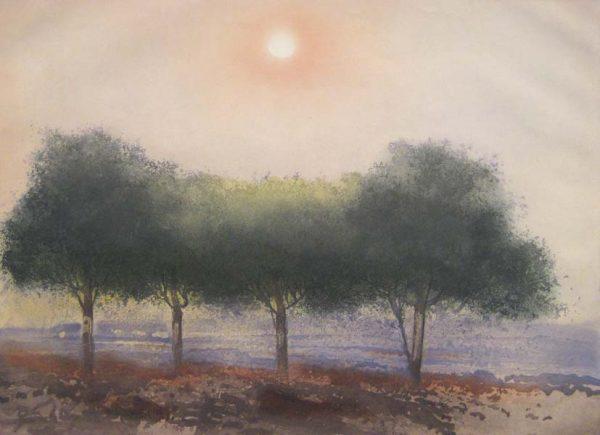 Kaiko Moti - Bois Cache (18x23 etching on paper)