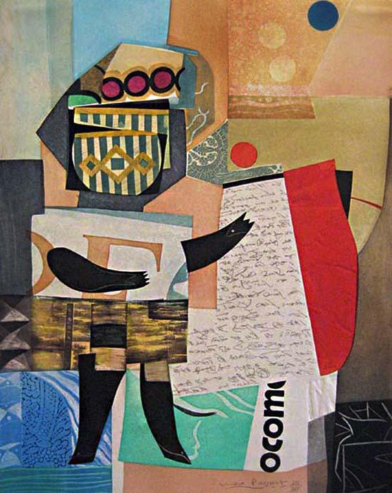 Max Papart - Bonne Nouvelle - Etching of a geometric figure