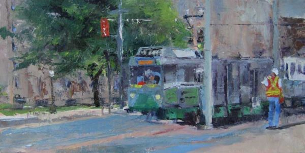 Pat Foster - Boston Green Line - Painting of the green line in Boston