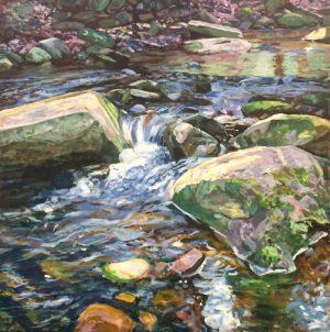 Lynne Adams Bubbling Brook 40x40