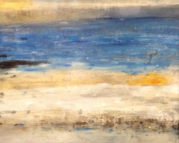 Timothy O'Toole Contemporary Abstract Oil on Canvas of Seascape Ocean Sand