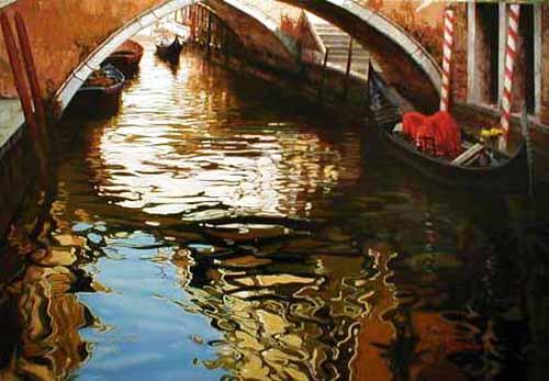 Raffaele Fiore painting venice canal