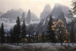 Stephen Lyman - Cathedral Snow print of Yosemite National Park