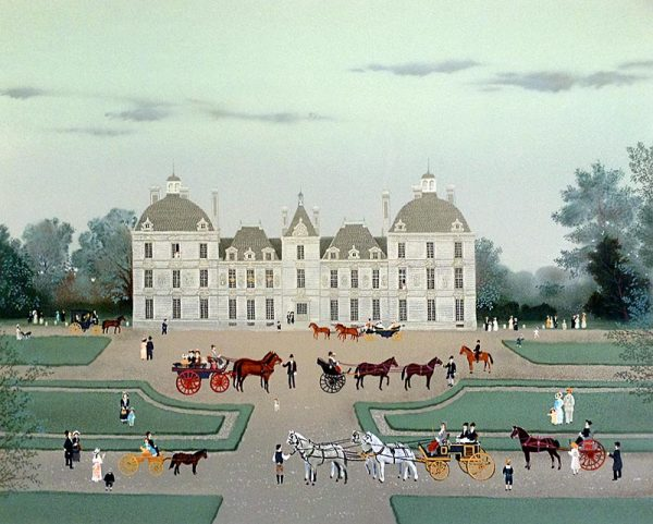 Michel Delacroix - Cheverny print of French chateau